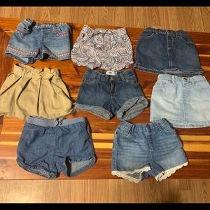 8 toddler 4t shorts and skorts skirts Lot